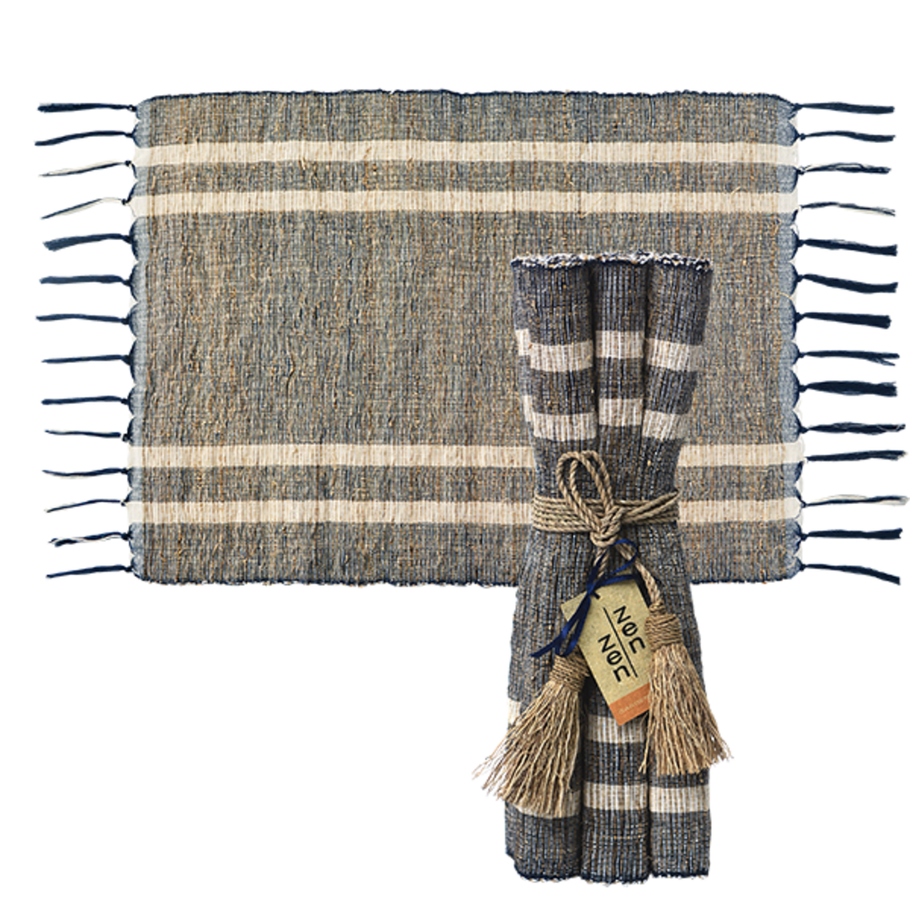 Placemats- Vetiver-Blue Ocean-Set/6 (Indonesia)