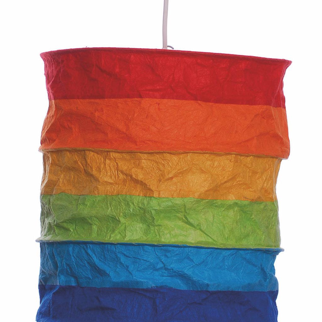 Lantern- Regenbogen-Lokta Paper (Nepal)