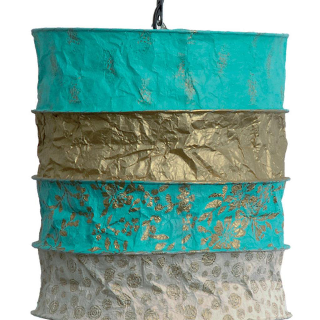 Lantern- Saba-Gold-Lokta Handmade Paper (Nepal)