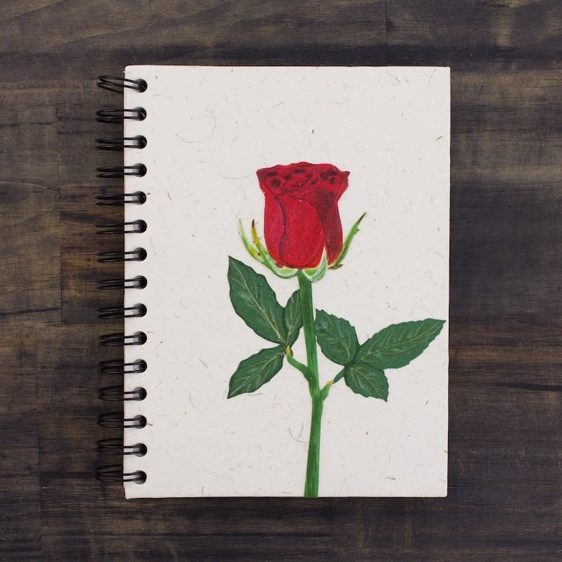 Notebook- Rose Flower-Large (Sri Lanka)