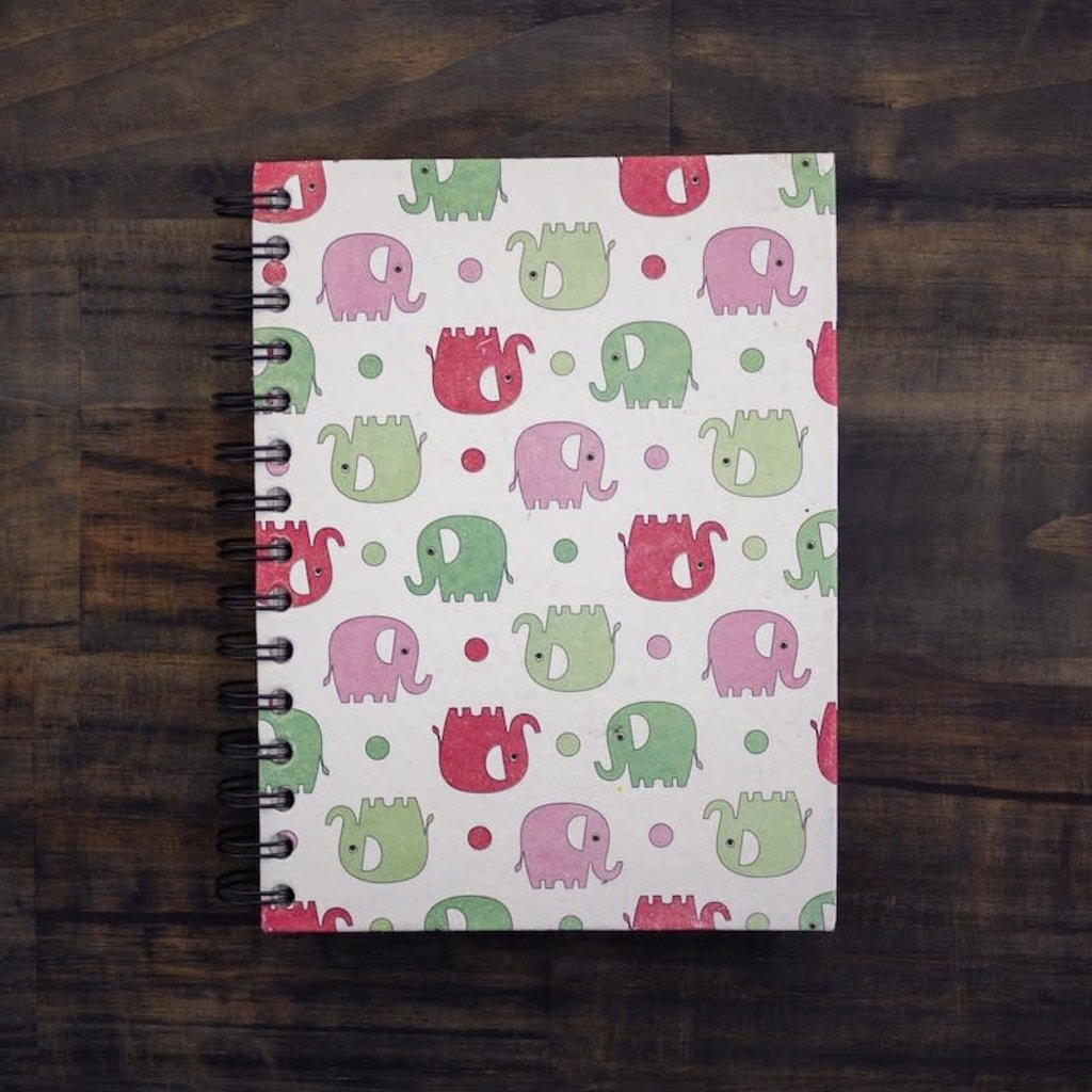 Notebook- Elephants Prints-Large (Sri Lanka)