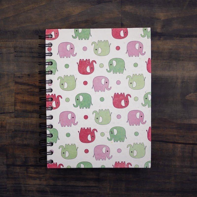 Notebook- Elephants Prints-Large (Sri Lanka)