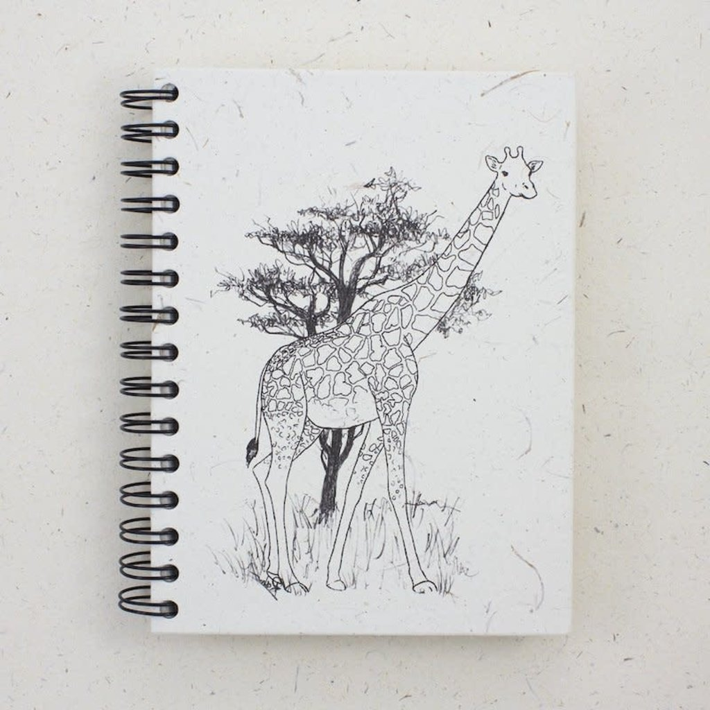 Notebook- Giraffe-Sketch-Large  (Sri Lanka)