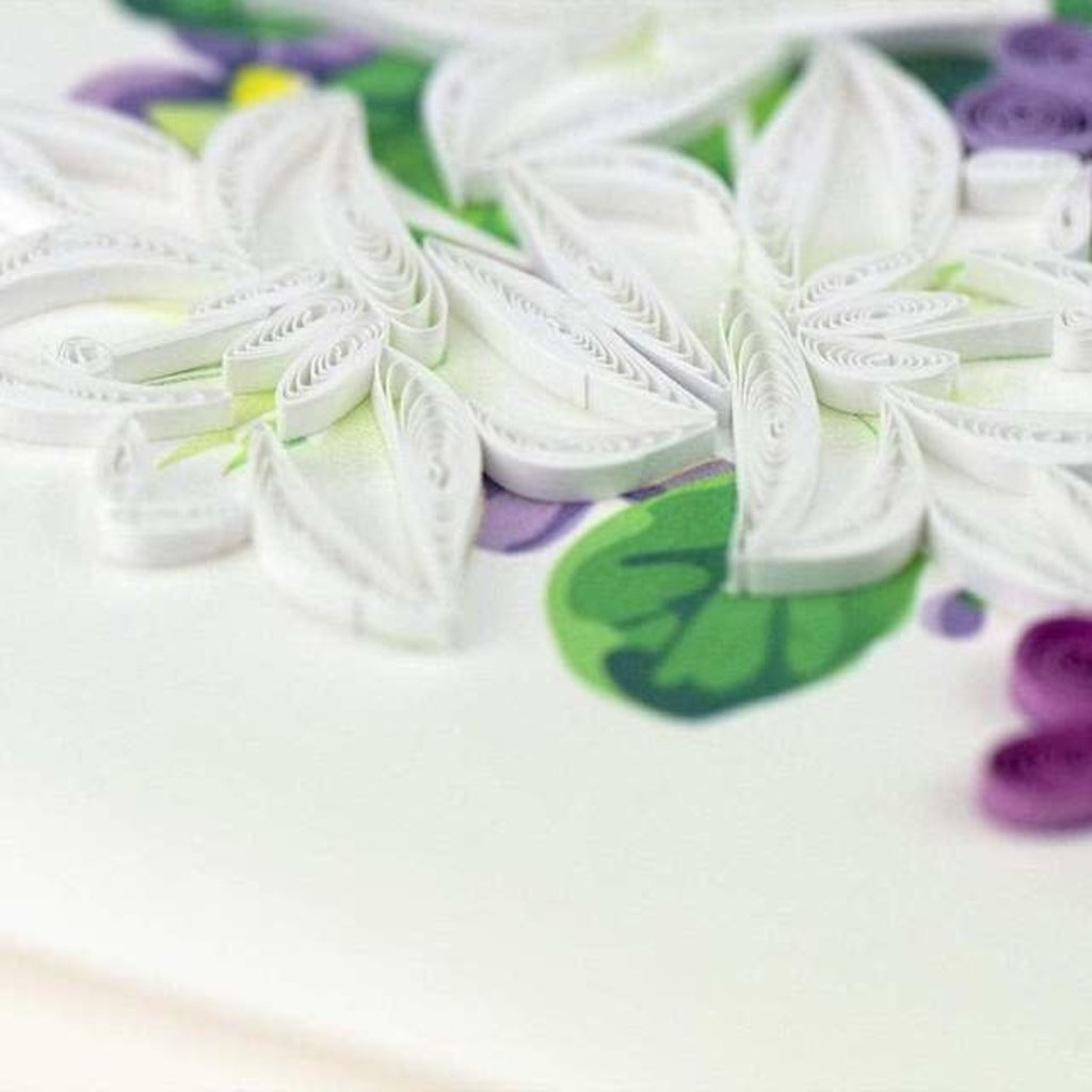 Quilling Cards- Flower Sympathy (Vietnam)
