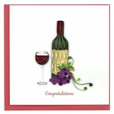 Quilling Cards- Wine Glass & Bottle Congrats (Vietnam)