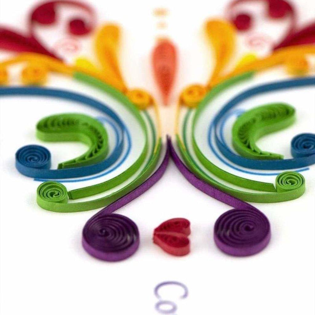 Quilling Cards- Rainbow Swirl (Vietnam)