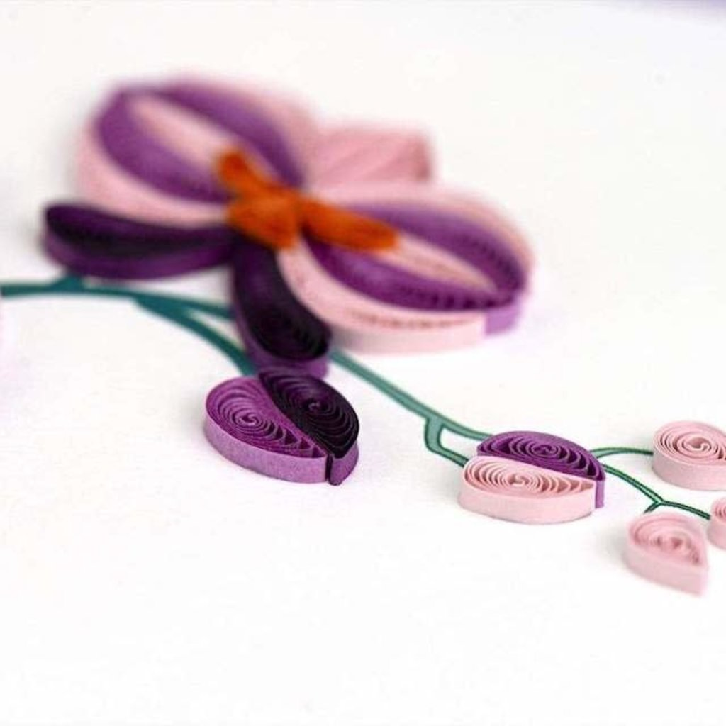 Quilling Cards- Orchid (Vietnam)