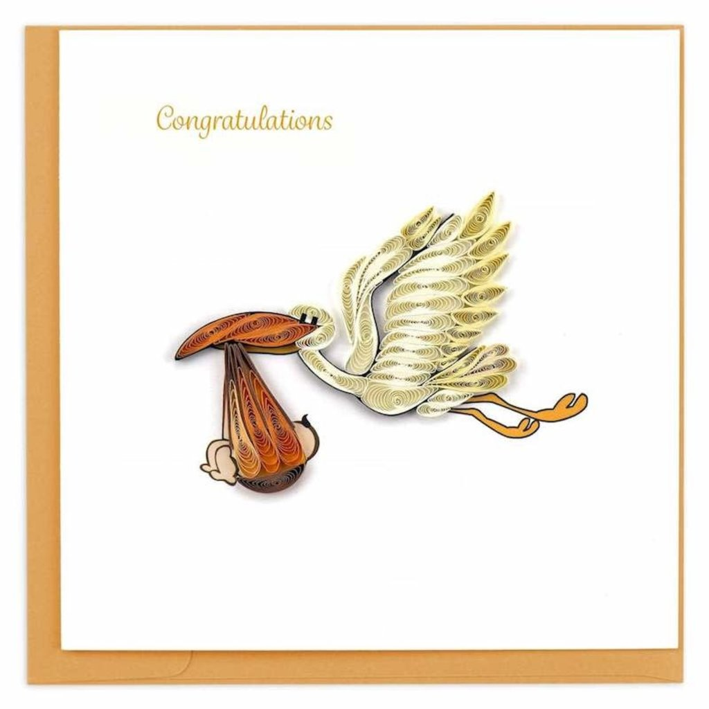 Quilling Cards- Stork Delivery (Vietnam)