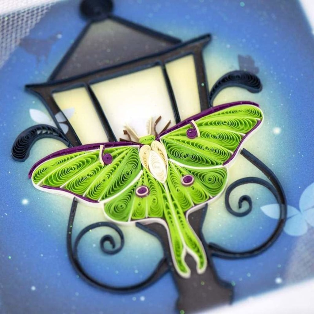 Quilling Cards- Luna Moth (Vietnam)