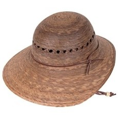 Hat- Laurel Lattice-Palm Straw-  w/SSB (Mexico)