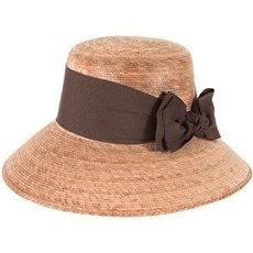 Hat- Somerset-Brown Bow-Palm Straw-w/SSB (Mexico)