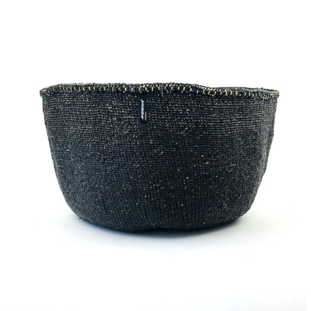 Basket- XXLarge-Black-Sisal/Plastic-Kiondo (Kenya)