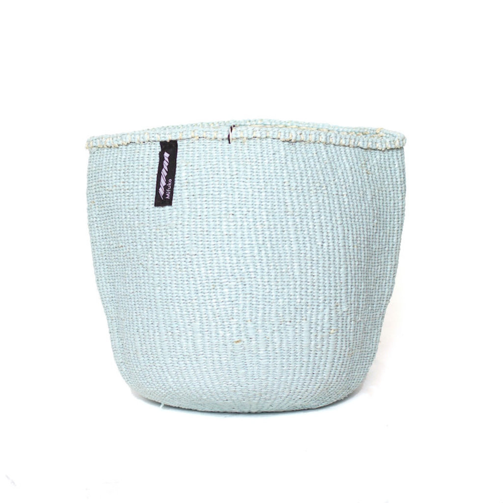 Basket- Small- Light Blue-Sisal/Plastic-Kiondo (Kenya)