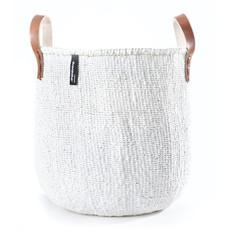 Basket- Medium-White-Tote-Sisal/Plastic-Kiondo (Kenya)