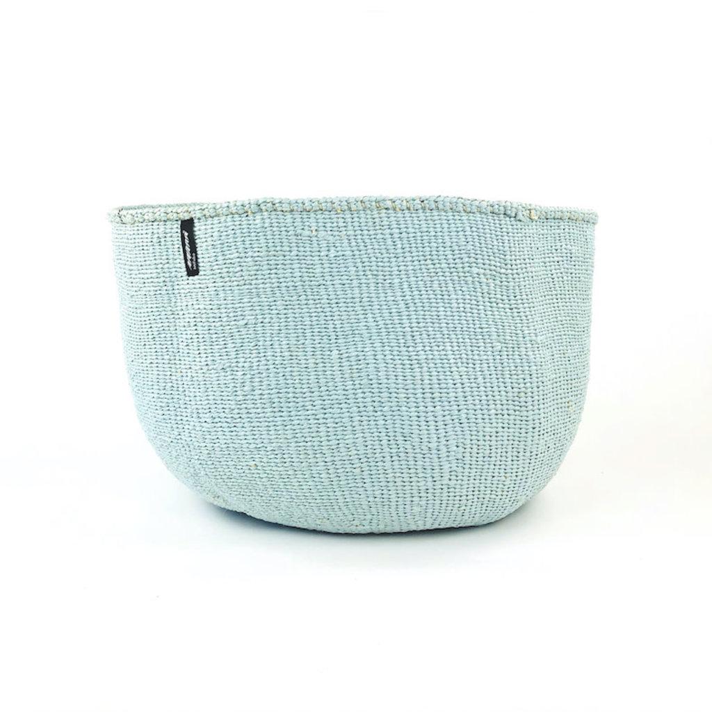 Basket- XXLarge-Light Blue-Sisal/Plastic-Kiondo (Kenya)