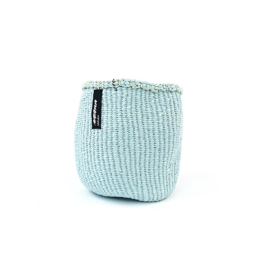 Basket- Extra Small-Light Blue-Sisal/Plastic-Kiondo (Kenya)
