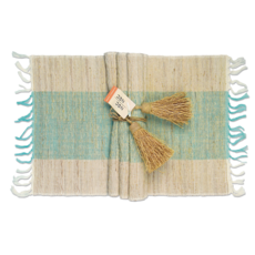 Placemats- Vetiver-Turquoise-Set/6 (Indonesia)