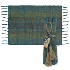 Placemats- Vetiver-Deep-Forest-Set/ 6  (Indonesia)
