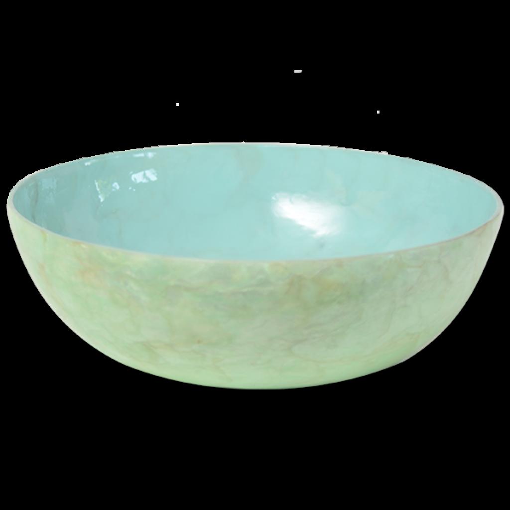 Salad Bowl- Capiz Shell-Pistachio (Indonesia)