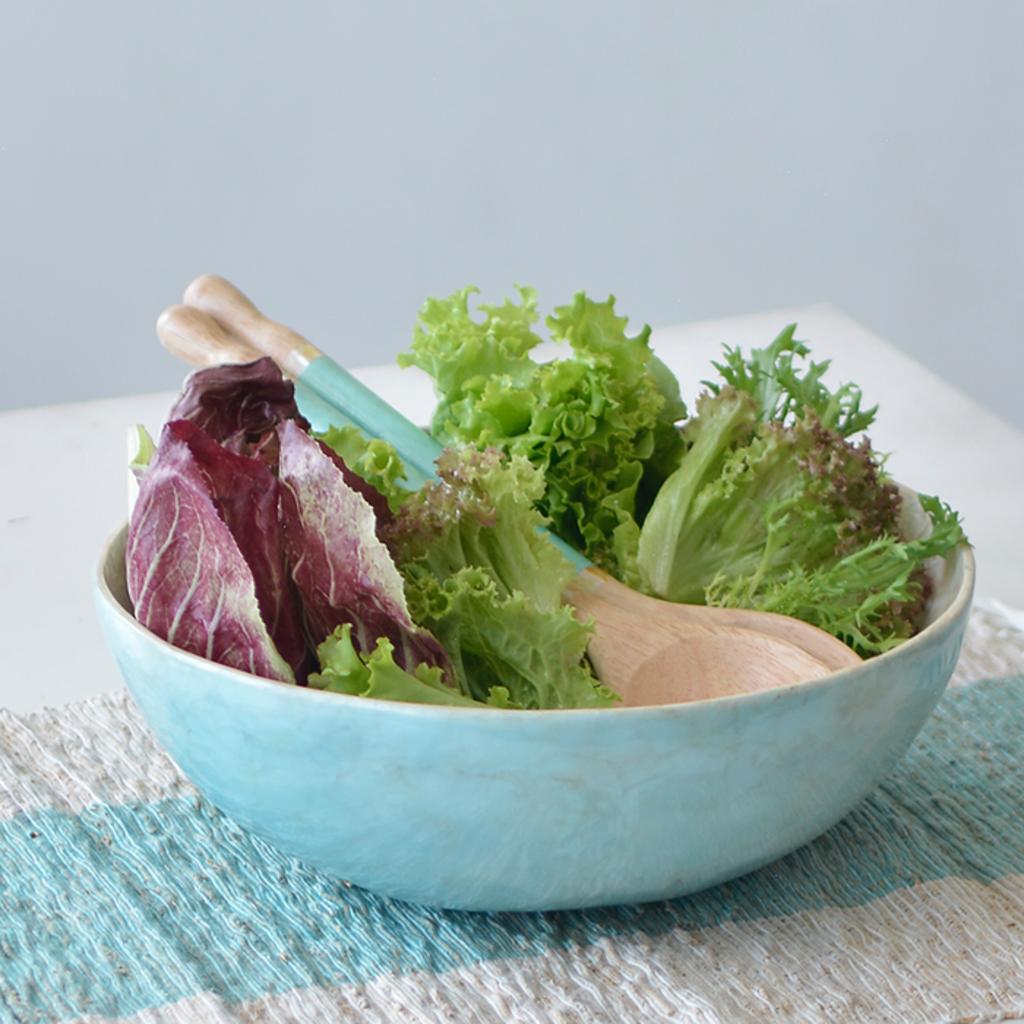 Salad Bowl- Capiz Shell-Aqua (Indonesia)