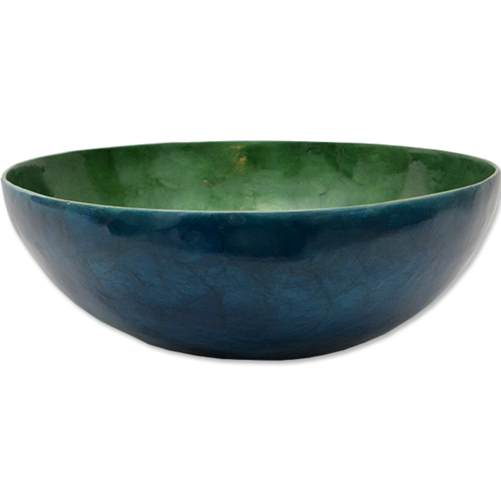 Salad Bowl- Capiz Shell-Green & Blue (Indonesia)