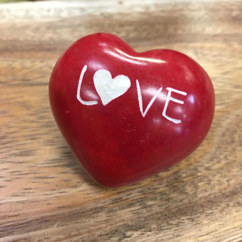 Heart-LOVE-Medium-Red-Soapstone (Kenya)