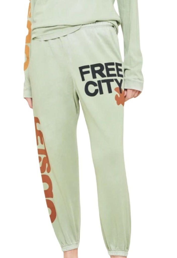 FREECITY Womens Letsgo Og Supervintage Sweatpants