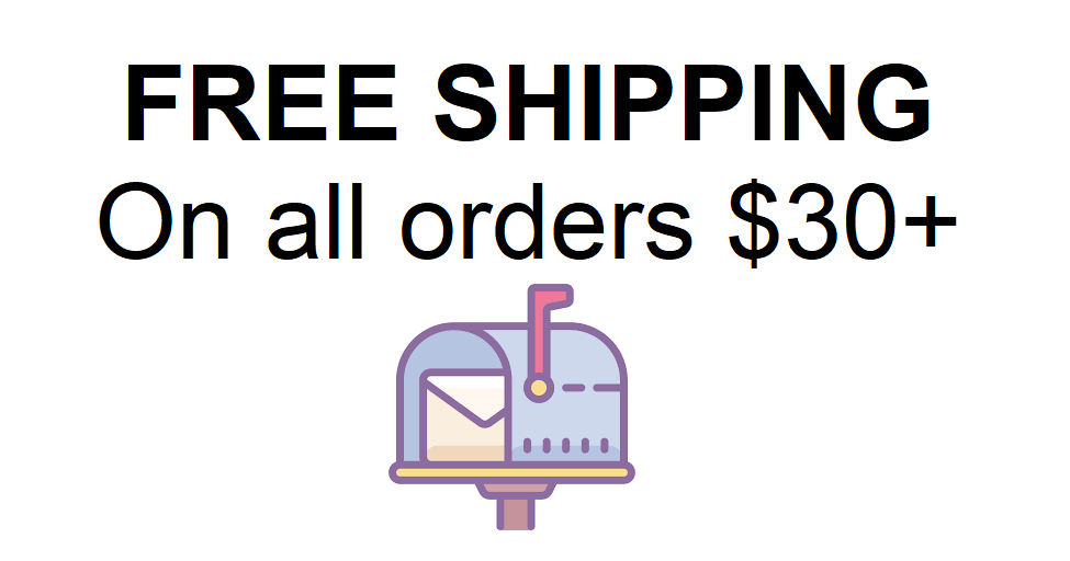 Free shipping $30+