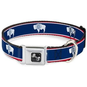 Buckle Down Buckle Down Wyoming Flags Bison Collar