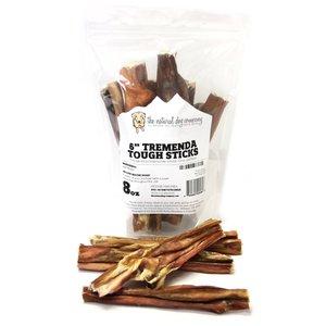 "The Natural Dog Company Tremenda Tough Sticks Bag 6"" 8oz beef bladder"