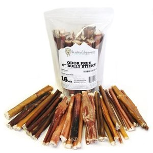 "The Natural Dog Company Natural Odor free 16oz 6"" bully sticks odor free"
