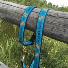 "Upcountry Upcountry Blue Jackson Hole Moose Lead 1"" wide"