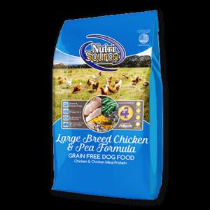 Nutrisource NutriSource Grain Free Dog Kibble Large breed chicken adult 30#