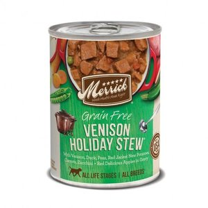 Merrick Merrick Dog Gourmet Entree 12.7oz Venison Holiday Stew 0022808201564