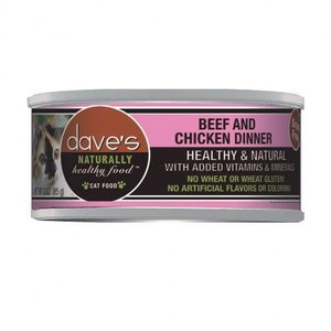 Dave's Dave's Cat Beef and Chicken Dinner 3oz