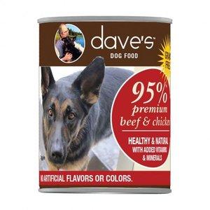 Dave's Dave's Dog 95% Prem Beef Chic 12.5oz