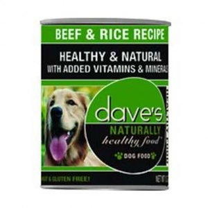 Dave's Dave's Dog Hlthy Can Beef Rice 13oz
