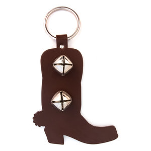 Auburn Aubourn Bell Door Hanger Cowboy Boot Brown