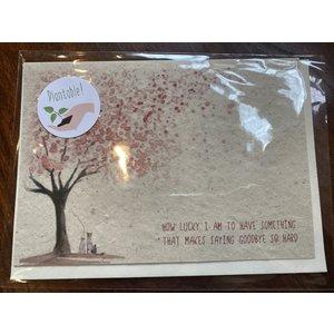 Brindle Hill Plantable Sympathy Card Saying Goodbye #7299