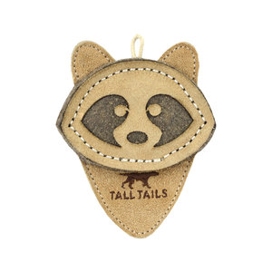 Tall Tails TTLS Leather Raccoon Toy  4""