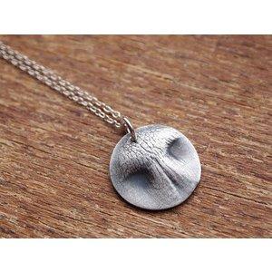 Precious Metal Prints Silver Noseprint Necklace