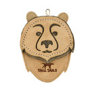 """Tall Tails TTLS Leather Bear Toy 4"""""""