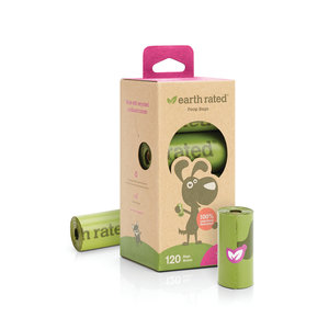 Earth Rated Earth Rated Poop Bags 8 roll lavendar 120ct