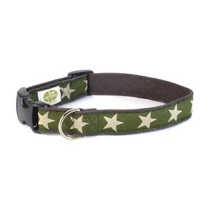 Earthdog Earthdog Hemp Collar Kody Olive Stars