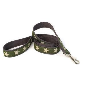 Earthdog Earthdog Hemp 4' Leash Kody Olive Stars
