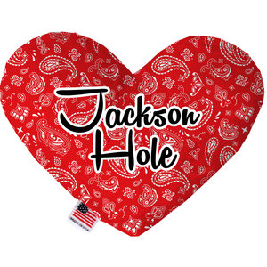 Mirage Pet Products Mirage Jackson Hole Heart Toy Red Bandana Print