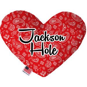 Mirage Pet Products Mirage Jackson Hole Heart Toy Red Bandana Print