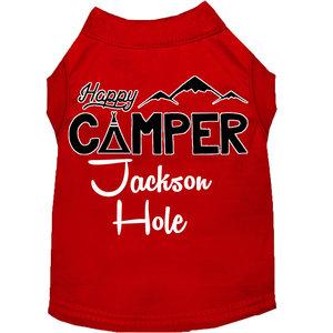 Mirage Pet Products Mirage Happy Camper Jackson Hole Dog T-shirt