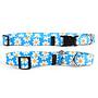 "Yellow Dog Designs Blue Daisy Cat Collar 8-12"""