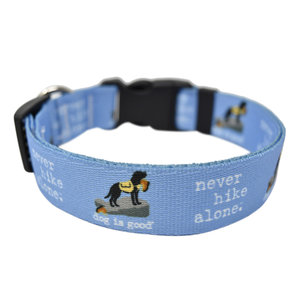 """Yellow Dog Designs Never Hike Alone Lead 3/4"""" x 5'"""